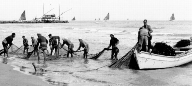 La pesca alla tratta.