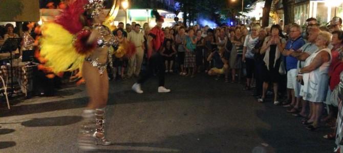 A Rivazzurra il turista e la ballerina